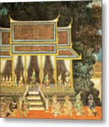 Royal Palace Ramayana 18 Metal Print