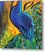 Royal Peacock Metal Print