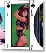 Royal Straight Flush Spades 1 Metal Print