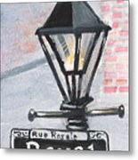 Royal Street Lampost Metal Print
