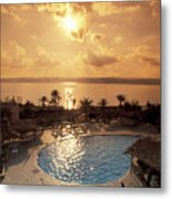 Royal Suite In The Dead Sea Spa Hotel Metal Print by Richard Nowitz