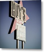 Roys Motel And Cafe Metal Print