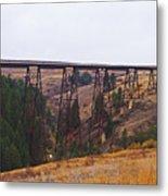 Rr Trestle Spans Lawyer's Canyon Metal Print