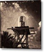 Rs Water Tower Sepia Metal Print