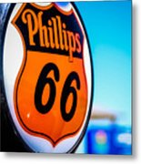 Rt. 66 Gas Pump Metal Print
