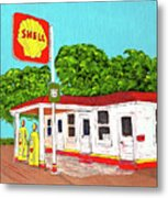 Rt 66 Shell Station Metal Print