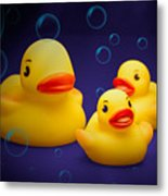 Rubber Duckies Metal Print