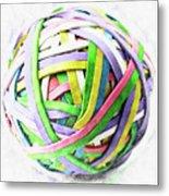 Rubberband Ball II Metal Print
