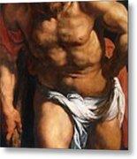 Rubens Descent From The Cross Detail Outside Left Peter Paul Rubens Metal Print