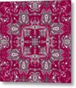 Rubies And Silver Kaleidoscope Metal Print