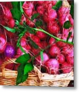 Rubies Organic Metal Print