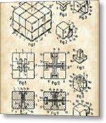 Rubik's Cube Patent 1983 - Vintage Metal Print