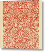 Rubino Red Floral Metal Print