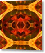 Ruby Crystal Pattern Metal Print