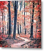 Ruby Forest Metal Print