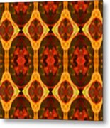 Ruby Glow Pattern Metal Print