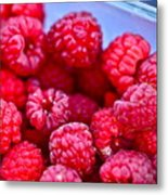 Ruby Raspberries Metal Print