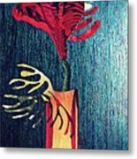Ruby Red Flower Metal Print