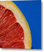 Ruby Red Grapefruit Quarter Metal Print