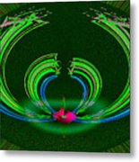 Ruby Singularity In Emerald Sapphire Nest Metal Print