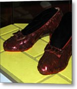 Ruby Slippers On The Yellow Brick Road Metal Print