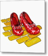 Ruby Slippers The Wizard Of Oz  Metal Print by Irina Sztukowski