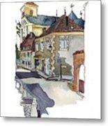 Rue Font St Jean, Ste Alvere, Dordogne Metal Print