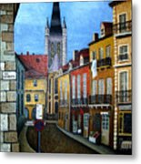 Rue Lamonnoye In Dijon France Metal Print