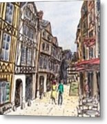 Rue Malpalu, Rouen, France I Metal Print