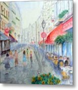 Rue Montorgueil Paris Right Bank Metal Print