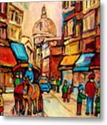 Rue St Jacques Old Montreal Streets  Metal Print