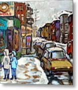 Achetez Les Petits Formats Scenes De Montreal St Viateur Bagel And Cola Truck Buy Montreal Painting  Metal Print
