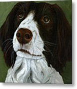 Rueger - Dog Portrait Oil Painting Metal Print