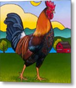 Rufus The Rooster Metal Print