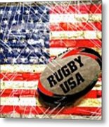 Rugby Football  Metal Print