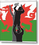 Rugby Wales Metal Print