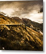 Rugged And Intense Mountain Background Metal Print