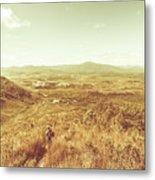 Rugged Bushland View Metal Print