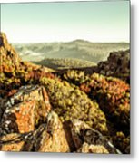 Rugged Mountaintops To Regional Valleys Metal Print