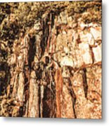 Rugged Vertical Cliff Face Metal Print