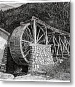 Ruidoso Waterwheel Metal Print