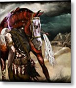 Ruined Empires - Skin Horse  Metal Print by Mandem
