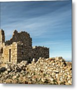 Ruined Stone Building At Occi In Corsica  Metal Print