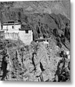 Ruins And Basgo Monastery Surrounded With Stones And Rocks Ladakh Metal Print