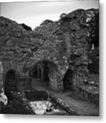 Ruins At Donegal Abbey Donegal Ireland Metal Print