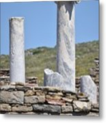Ruins Of Delos Metal Print