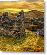 Ruins Of Snowdonia Panorama Metal Print