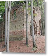 Ruins Of The Baroque Chapel Of St. Mary Magdalene Metal Print
