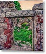 Ruins Of White's Factory - Doorways Metal Print