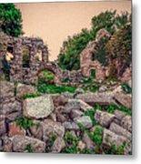 Ruins Of White's Factory - Fallen Blocks Metal Print